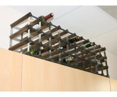 Cranville Wine Racks Classic 30/40 Botella de Armario Superior (Madera de Nogal y Metal galvanizado Vino Rack Montado