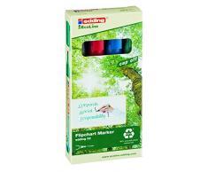 Edding marcadores rotafolio 32 EcoLine, recargables; 1-5 mm, negro / rojo / azul / verde