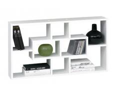 Sb-Design - Estantería de melamina para pared (85 x 47,5 x 16 cm), color blanco
