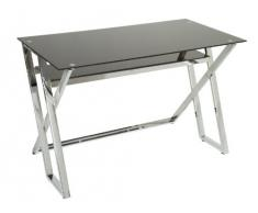 Mesa escritorio cristal negro