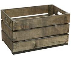 """'Estante con ruedas de 3 pieza Estable fruta Cajas de frutas en """"schwarzgrün de caja, de madera multiusos + + + Dimensiones: 112 x 54 x 30 cm"""