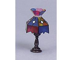 Kahlert Licht Casa de muñecas en Miniatura de la lámpara Tiffany lámpara de Mesa para Coridor Sala