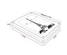 AMEITECH Marcos de acrílico, 10 x 15 cm Conjunto de Bloques de Doble Cara Transparente, Marco de Fotos magnético sin Marco de Escritorio - Paquete de 2