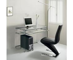 Hogar Decora - Mesa Escritorio/Ordenador Cristal 90 x 55 cm