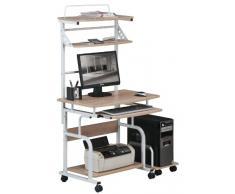 SixBros. Mesa de ordenador enrollable roble óptica madera - CT-7800AF/1837