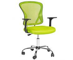 TecTake Silla de oficina giratoria sillón ejecutivo silla de escritorio - disponible en diferentes colores - (Verde | No. 401187)