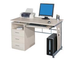 SixBros. Mesa de ordenador Arce/Gris plateado - S-352/112 - MDF color arce - Estructura Metal Gris plateado