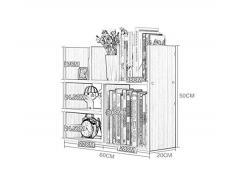 Librero Estantería de Escritorio del Estudiante Dormitorio de Oficina Simple estantería de Almacenamiento Doble Estable y fácil de Limpiar (Colores múltiples Disponibles)