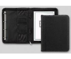 Brunnen - Carpeta de conferencias (275 x 345 x 40 mm, piel, lisa), color negro
