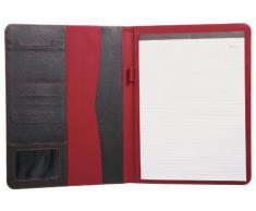 Sign Office - Carpeta para conferencias (320 x 245 mm), color rojo y negro