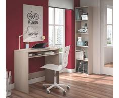 Mesa de ordenador o escritorio con estante inferior en color roble para despacho o estudio, 78x79x43cm