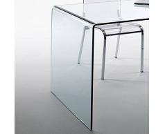 lounge-zone Diseño Cristal Escritorio Chalet fromgebogenes vidrio de seguridad 120x60cm Home Oficina 13796