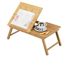 Zeller 25325 - Bandeja para la cama con atril de lectura, madera de bambú (55 x 33 x 21,5 cm)