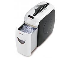 Rexel Style - Trituradora de papel (papelera de 7.5 litros, corte confeti, admite hasta 5 hojas a la vez), color blanco y negro