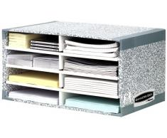 Fellowes Clasificador de Sobremesa System - Organizador de almacenaje (Gris, Cartón, Papel, A4, 490 x 310 x 260 mm, 230 x 310 x 55 mm, Envelope, Carpeta, Carta, Note)