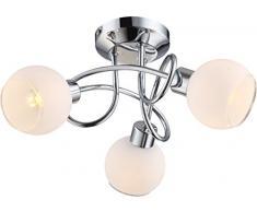 globo 56963-3 GU10 LED lámpara de techo Siony, cromado