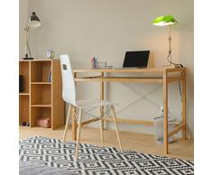 Relaxdays – Mesa de Ordenador, Teclado cajón de Madera, Escritorio de Oficina sólido, HxWxD: 76,5 x 106,5 x 55,5 cm, Color marrón