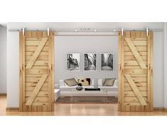 XBD-FSS # Acero inoxidable cepillado níquel satinado Sus304 Hardware puerta corredera madera del granero MiniSun pista para trastero, lavandería, baño principal, paseo en armario, la oficina, persianas, alta movilidad áreas