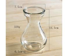 lumanuby 1 pieza Jarrón de cristal para Jacinto/Narciso/Otros Planta transparente Depósito para ver flores y raíces Altura 14,5 cm Decoración de escritorio para oficina/Casa