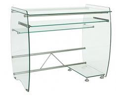 HOGAR DECORA - Mesa escritorio/ordenador cristal 90x55 cm