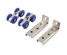 Azul tono plateado Home armario para puerta corredera rodillo