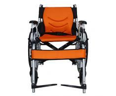 love Silla de ruedas de aluminio rotafolio pie Extracción apoyabrazos ligera silla de ruedas Transporte de viajes
