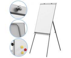 Rotafolio Whiteboard aprox. 65 x 95 cm, altura regulable, incluye 12 imanes
