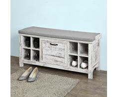 SoBuy®Banco zapatero,con 8 huecos Armario zapatero, Taburete, estantería para zapatos, FSR38-US,ES