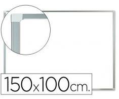 Pizarra blanca q-connect lacada magnetica marco de aluminio 150x100 cm.
