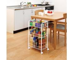 IRIS 530867 estantería con Ruedas, Soporte y estantería, de/Pesado/de la estantería, Plegables/Armario de Cocina, Estante para Cocina - Schuben 3