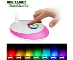 Heimdall lámpara de escritorio, luz de la noche multicolor, regulable, la moda, recargable, para leer / trabajar / relajarse / dormir