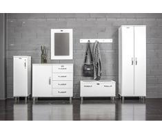Tenzo 5121-005 Malibu - Armario bajo de diseño, se puede cerrar (111 x 35 x 34 cm, fibra de madera de densidad media, lacado), color blanco
