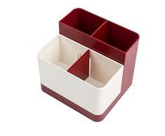 Organizador de escritorio para suministros de oficina multifución caja de almacenaje contenedor de lapices accesorios de escritorio hogar oficina (Verde)