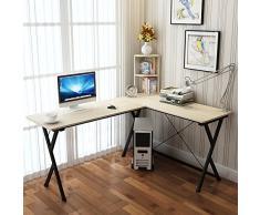 Soges Mesa ordenador Gran escritorio de esquina Moderna Escritorio para oficina, Blanco - ZJ1-MP