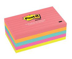 Post-It 635-5AN - Etiqueta autoadhesiva (Multi, 7,62 cm, 12,7 cm, Papel)