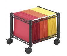 Safco - Mini carro móvil metálico para carpetas de tamaño folio