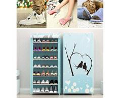 JINGJING 8 Niveles Zapatero Persiana Armario de Zapatos Protector Solar A Prueba de Polvo Zapatilla combinada Estante Armarios de almacenaje,F