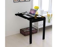 mesa plegable ZHIRONG Plegable de Pared, Marco de Fotos, Mesa de Comedor Multifuncional para Escritorio de computadora (Color : Negro, Tamaño : 90 * 60CM)