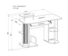 SixBros. Mesa de ordenador Arce- S-104/1127 - MDF color arce