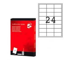 5 Star 903806 - Pack de 100 hojas de etiquetas autoadhesivas, 70 x 35, color blanco, 1 unidad