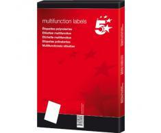 5 Star 903849 - Pack de 100 hojas de etiquetas autoadhesivas, 105 x 37, color blanco, 1 unidad