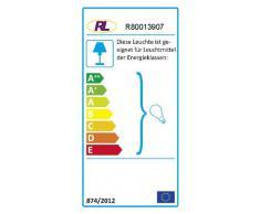 Reality Leuchten R80013907 - Lámpara de Techo de Cristal Opalino con 3 Luces (3 Bombillas E14 de Máximo 40 W No Incluidas, 37 cm de largo), color blanco