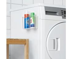 InterDesign AFFIXX Peel-and-Stick - Organizador autoadhesivo para lavadero, cuarto de servicio, armario, 7.6 x 15.2 x 12.7 cm, color claro