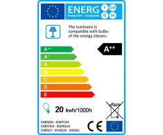 QAZQA Moderno Lámpara de pie DIVINE negro Metal Redonda / Alargada / Incluye LED LED (no sustituible) Max. 1 x 20 Watt