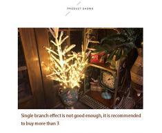 Donpow Luces de rama, ramas LED Luces decorativas alimentadas por batería con 5 ramas 20 luces LED para habitación nórdica Disposición del dormitorio Luz nocturna pequeña Barra transparente Decorativa