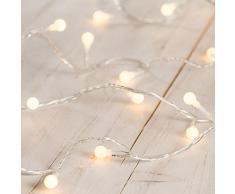 Guirnalda luminosa de bombillas decorativas de luz LED blanca cálida de Lights4fun
