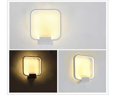 Lightess Apliques de Pared Banadores de Pared Lámpara de Pared Lámpara en Moda Agradable Luz de Ambiente Lámpara de Decoración para Dormitorio, Studio, Hogar Decoración, Porche, Viene con Led Bombilla, Blanco Cálido