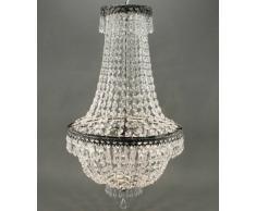 Genial Lámpara de techo Araña Cristal 65 cm altura para 3 bombillas
