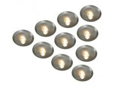 Naeve Leuchten 430550 Sternenhimmel - Focos halógenos empotrables (IP20, incluye 10 bombillas G4, 10 W, 12 V), color plateado