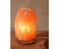 "Lámpara de sal ""Rock"" 2 - 3 kg con base de madera, Krsitallsalz, lámpara de sal"